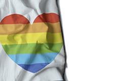 le coeur gai a ridé le drapeau, l'espace pour le texte Image stock