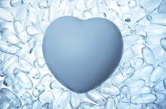 Le coeur gelé photographie stock