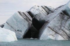 Le coeur noir en glace Images libres de droits