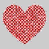 Le coeur rouge de puzzle rapièce - puzzle - des échecs de champ Image libre de droits