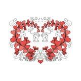 Le coeur se compose des coeurs dans le style de zentangle Photo libre de droits