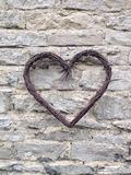 Le coeur sur le mur Photo stock