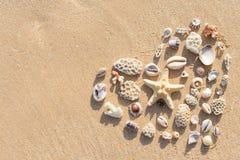 Le coeur sur le sable Images stock
