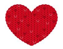 Le coeur tricoté Photo libre de droits