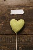 Le coeur vert du tissu Photos libres de droits