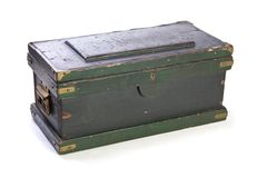 le coffre antique a peint Photo libre de droits