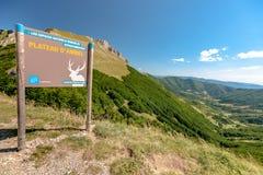 Le Col De los angeles Bataille et Le Plateau d ` Ambel Vercors, Francja obraz royalty free