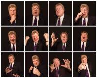 Le collage de différentes expressions masculines de visage Photos libres de droits