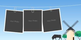 Le collage de la photo encadre l'illustration de vecteur Photographie stock