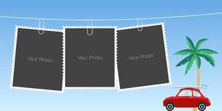Le collage de la photo encadre l'illustration de vecteur Image stock
