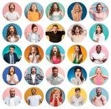 Le collage des personnes étonnées photo stock