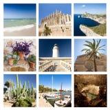 Le collage des vues de Majorque, Espagne image libre de droits