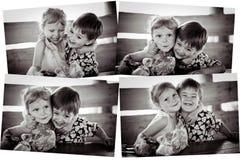 Le collage du ` s de fille avec le garçon Photos stock