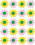 le collage fleurit la source Image stock