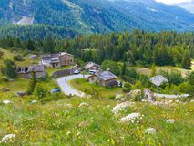 Le collet,bessans,savoie,france. Paysage of tarentaise of alpes Stock Photography