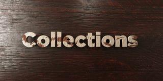 Le collezioni - titolo di legno grungy sull'acero - 3D hanno reso l'immagine di riserva libera della sovranità illustrazione di stock