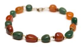 Le collier de bijoux d'isolement sur le fond blanc Image stock