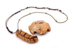Le collier de tortue sur le fond blanc Image libre de droits