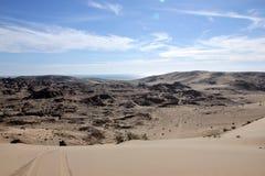 Le colline del deserto intorno al EL Golfo de Santa Clara, sonora, Messico Fotografia Stock