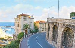 Le colline del reparto di Condamine della La nel Monaco Fotografia Stock