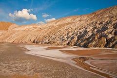 Le colline dello spreco della miniera Fotografia Stock