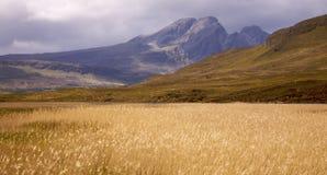 Le colline ed il campo di Cullin fotografie stock