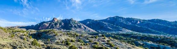 Le colline pedemontana dei Colorado Rockies fotografie stock libere da diritti