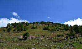 Le colline pedemontana della valle Fotografie Stock Libere da Diritti