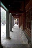 Le colonnati di Shaolin Temple fotografia stock libera da diritti