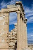 Le colonne del Erechtheion, parte oft l'acropoli di Atene, Grecia Immagini Stock Libere da Diritti
