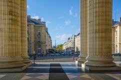 Le colonne del telaio Rue Soufflot del panteon Fotografia Stock Libera da Diritti