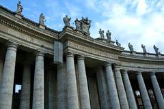 Le colonne della st Peter a Roma Immagine Stock