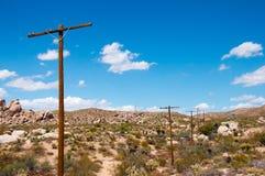Le colonne fissano in un deserto Fotografia Stock Libera da Diritti