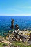 Le Colonne - isola di San Pietro Fotografia Stock