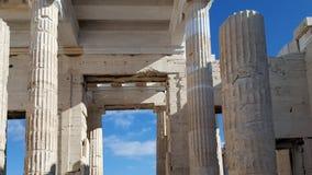 Le colonne monumentali del Propylaea fotografia stock libera da diritti