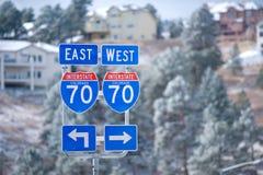 le Colorado d'un état à un autre Photo libre de droits