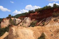 Le Colorado de Rustrel - la Provence Photos libres de droits