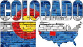 Le Colorado sur un mur de briques illustration libre de droits