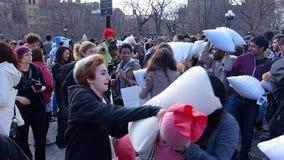 Le combat d'oreiller de 2014 NYC 17 Photos libres de droits