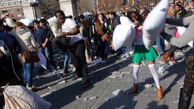 Le combat d'oreiller de 2014 NYC 11 Photos libres de droits