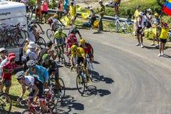 Le combat pour le jaune - Tour de France 2016 Photos stock