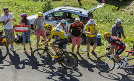 Le combat pour le jaune - Tour de France 2016 Photographie stock