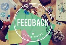 Le commentaire de FAQ de rétroaction évaluent le concept de réponse d'opinion images libres de droits