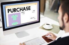 Le commerce de achat d'achat obtiennent le concept d'achats Photos libres de droits