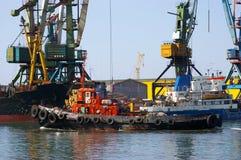 le commerce de mer gauche photo libre de droits