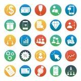 Le commerce de souris d'ordinateur a isolé des icônes de vecteur réglées consistent avec le bâtiment, le graphique, l'équipe, le  Illustration Libre de Droits
