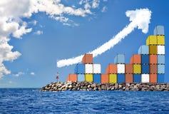 Le commerce global de récipient Photos stock