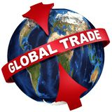 Le commerce global illustration 3D Illustration Stock