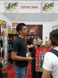 Le commerce international 27 juillet 2016 de nourriture et de boisson juste à KLCC Image stock