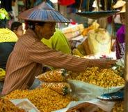 Le commerce pour le peuple de la Birmanie Photographie stock